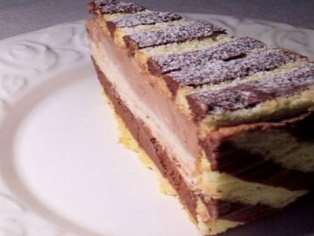 Csokimousse-gesztenye tortaszelet