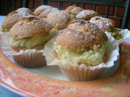 Vaníliás töltött muffin
