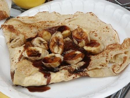 Csokis-banános palacsinta