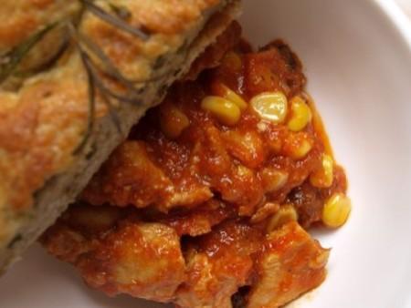 Aszalt paradicsomos chilis pulykamell
