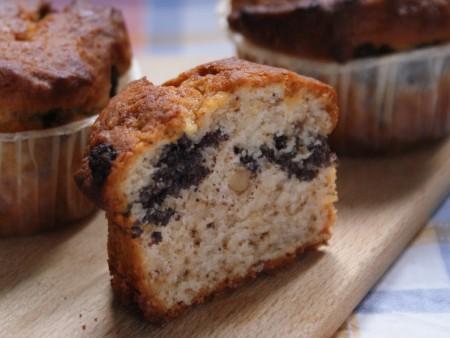 Mákos töltött muffin