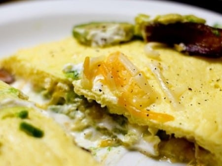Tejfölös omlett