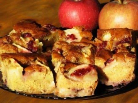 Mézes-almás lepény